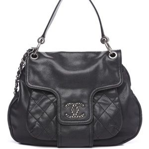 Authentic Chanel Coco Rider Flap Hobo